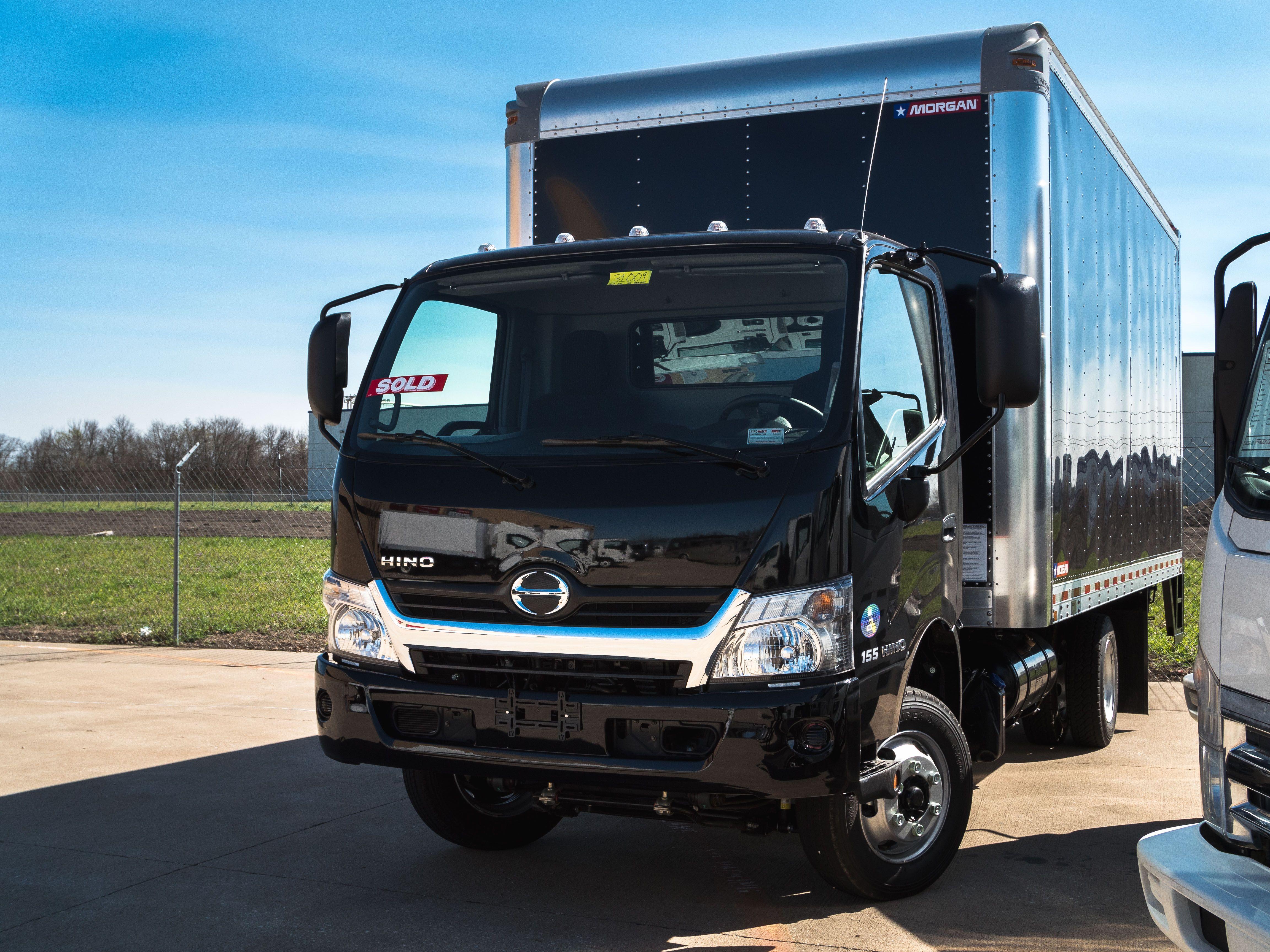 2018 Hino Box Truck In Custom Black Hino Toyota Boxtruck Box