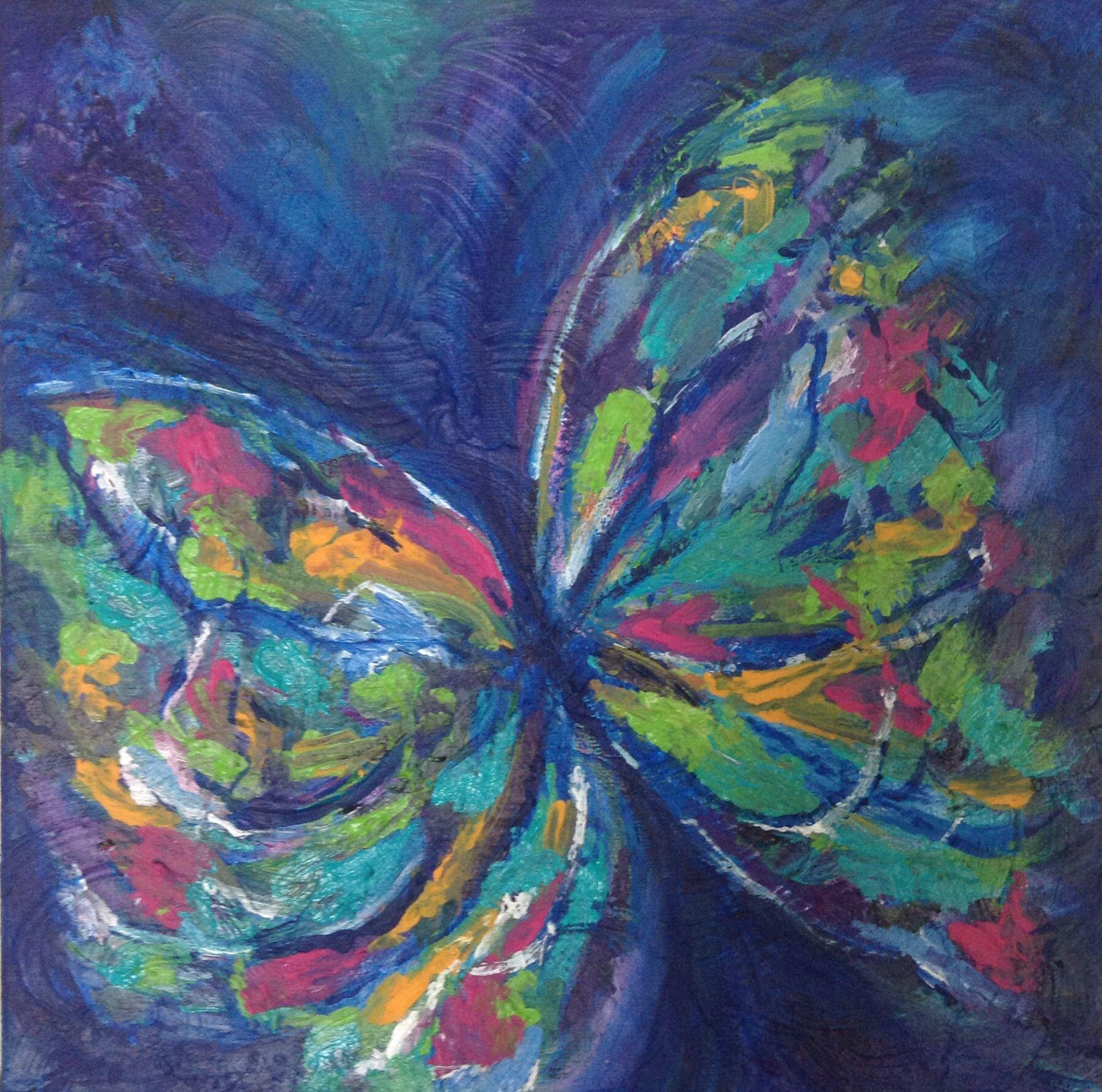 Butterfly, Acrylic, Art | Artists that inspire | Pinterest