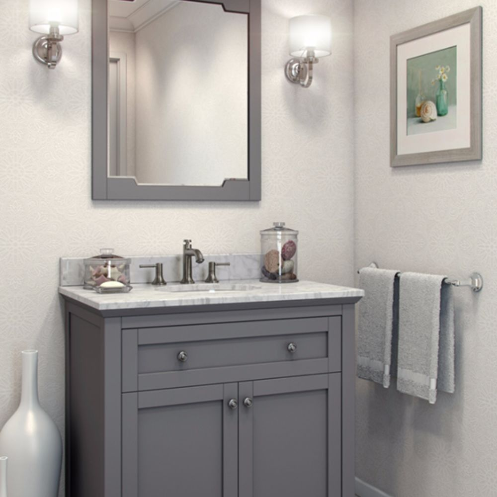 Jeffrey Alexander 28 Gray Chatham Shaker Mirror Stunning And Classic Gray Finished Framed Mirror Bathroom Mirror Small Bathroom Vanities Bathroom Renovations