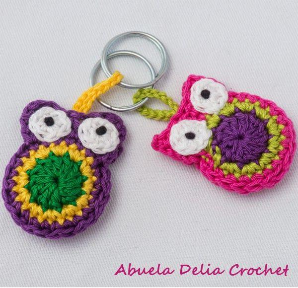 Buho en Crochet para Llaveros o Souvenirs | keycover~chain ...