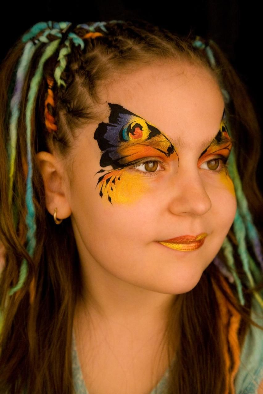 Pin On Face Paint Butterfly Dragonflies Designs