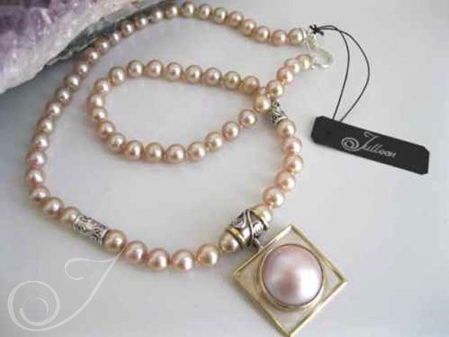 34438d4a60070 Naomi Pink Mabe Necklace pdm008 | Jewerly | Pearls, Jewelry, Pearl ...