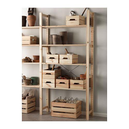 "KNAGGLIG Box pine 9x12 ¼x6 "" Ikea, Home organisation"