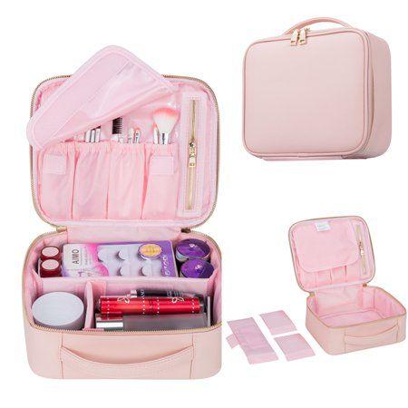 Mllieroo Portable 9.8\u0027\u0027 Makeup Train Case Cosmetic Organizer