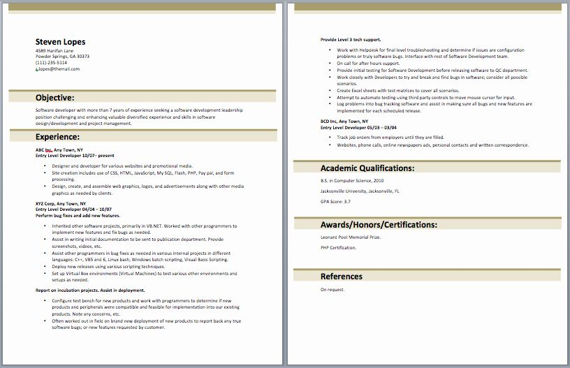 Junior Web Developer Resume Luxury Entry Level Web Developer Resume Entry Level Resume Samples Web Developer Resume Sample Resume Templates Job Resume Samples
