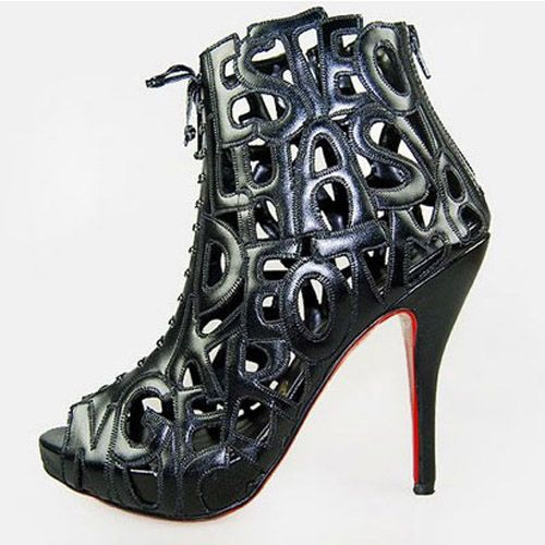Christian Louboutin Short Boots With Alphabet