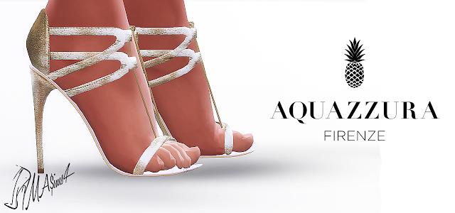 MA$ims4 : Aquazzura Gold Sandals.