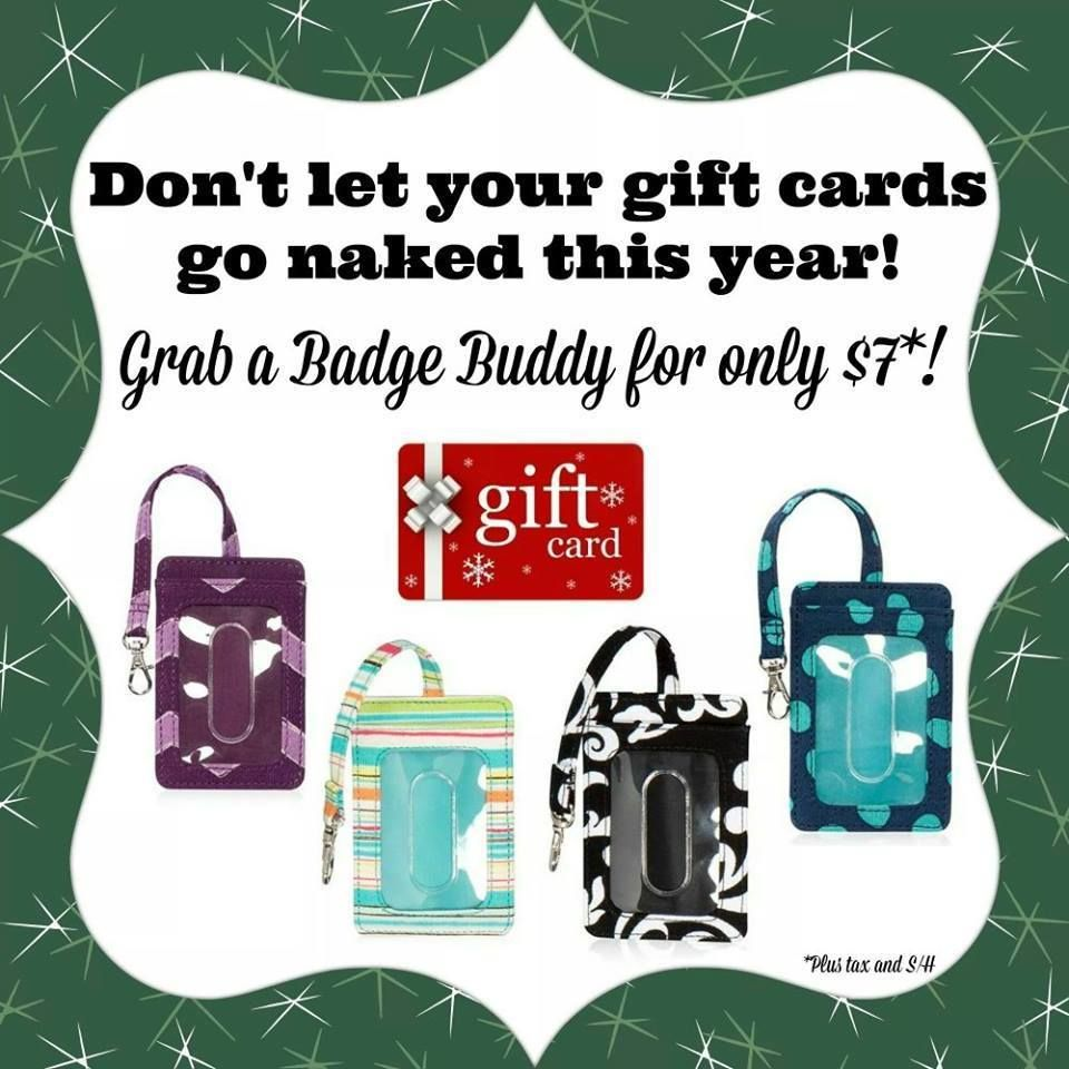 Thirty-One Gifts - Badge Buddies for your gift cards