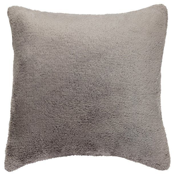 Colourmatch Supersoft Cushion Flint Grey At Argos Thousands Of Products For Same Day