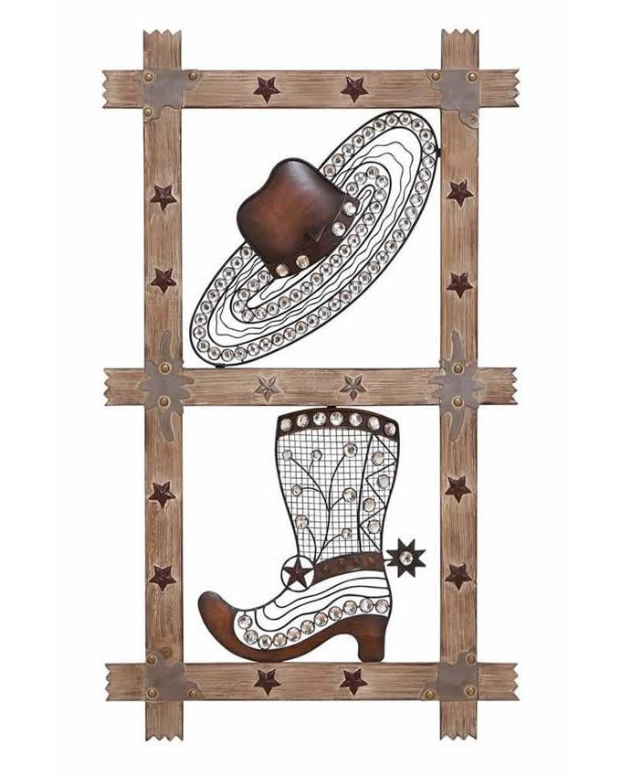 Western Themed Wood Metal Wall Decor Western Wall Decor Cowboy Wall Art Modern Wall Paneling