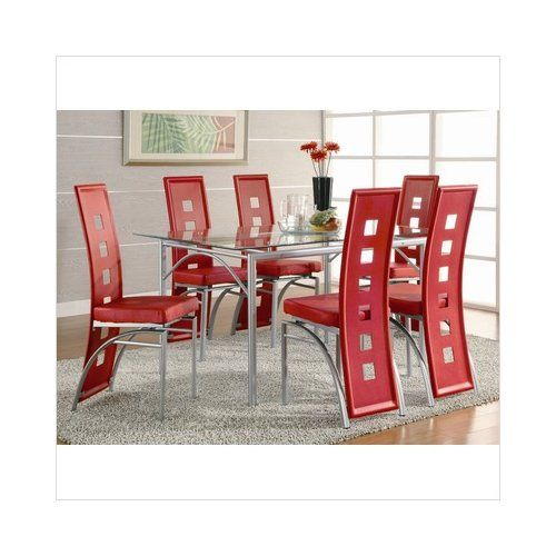 Bundle-75 Wildon Home North Berwick Dining Table Set in with Red Chairs (9 Pieces) unique love it.