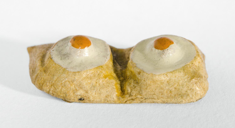 Ceramic fried eggs Philadelphia Museum of Art