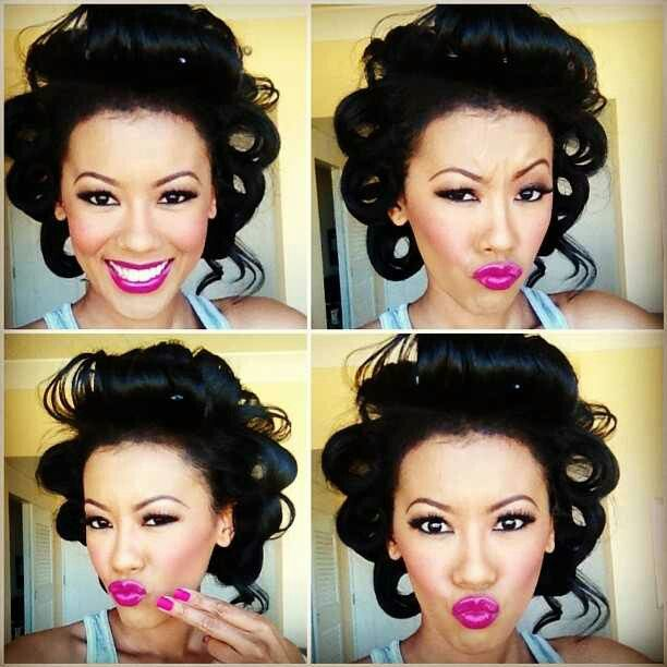 Denyce Lawton: I AM INTO LIPSTICK NOW. BEFORE IT WAS NOT MY THING. THE COLOR SHE HAS ON IS BEAUTIFUL