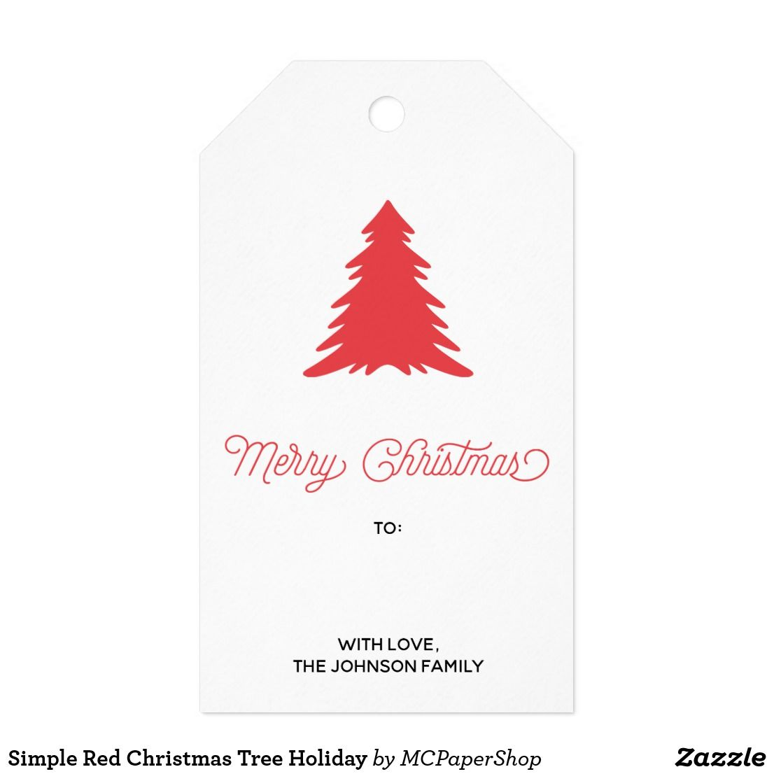 Simple Red Christmas Tree Holiday Gift Tags Holiday Gift Tags Simple Gifts Red Christmas Tree