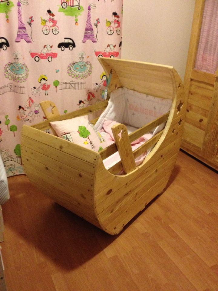 Cuna de Palets | Palés | Pinterest | Palets, Muebles para bebe y ...