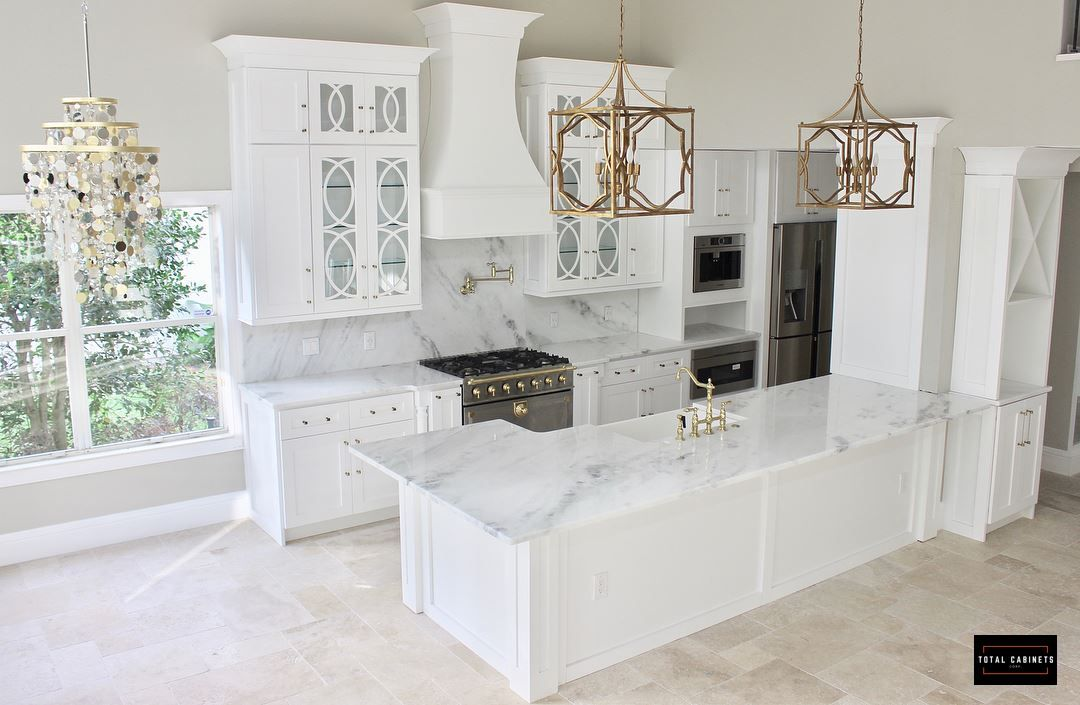 Transitional Kitchen Embellish a simple kitchen design with custom