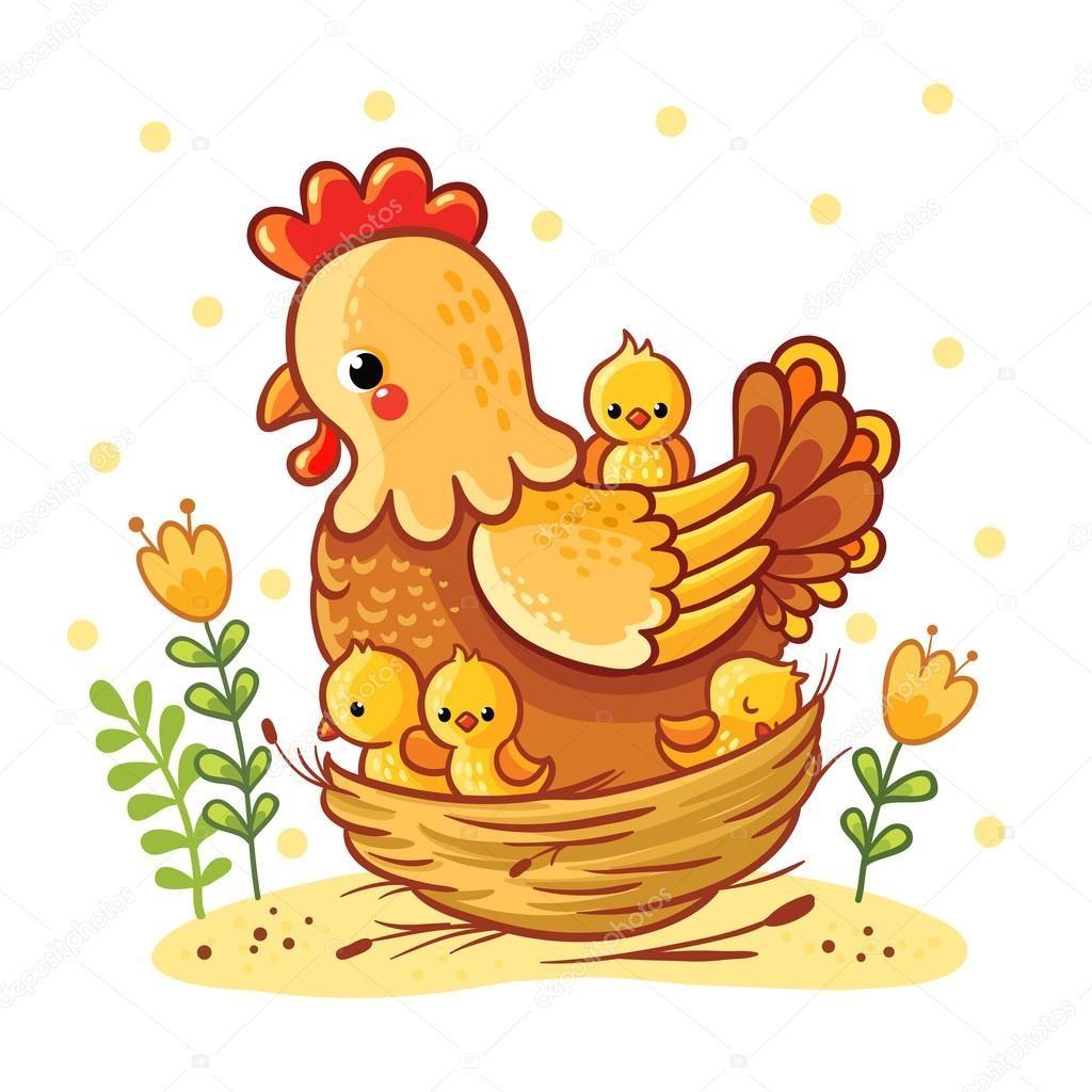 Resultado de imagen de dibujo gallina y pollitos mis - Dibujos infantiles originales ...