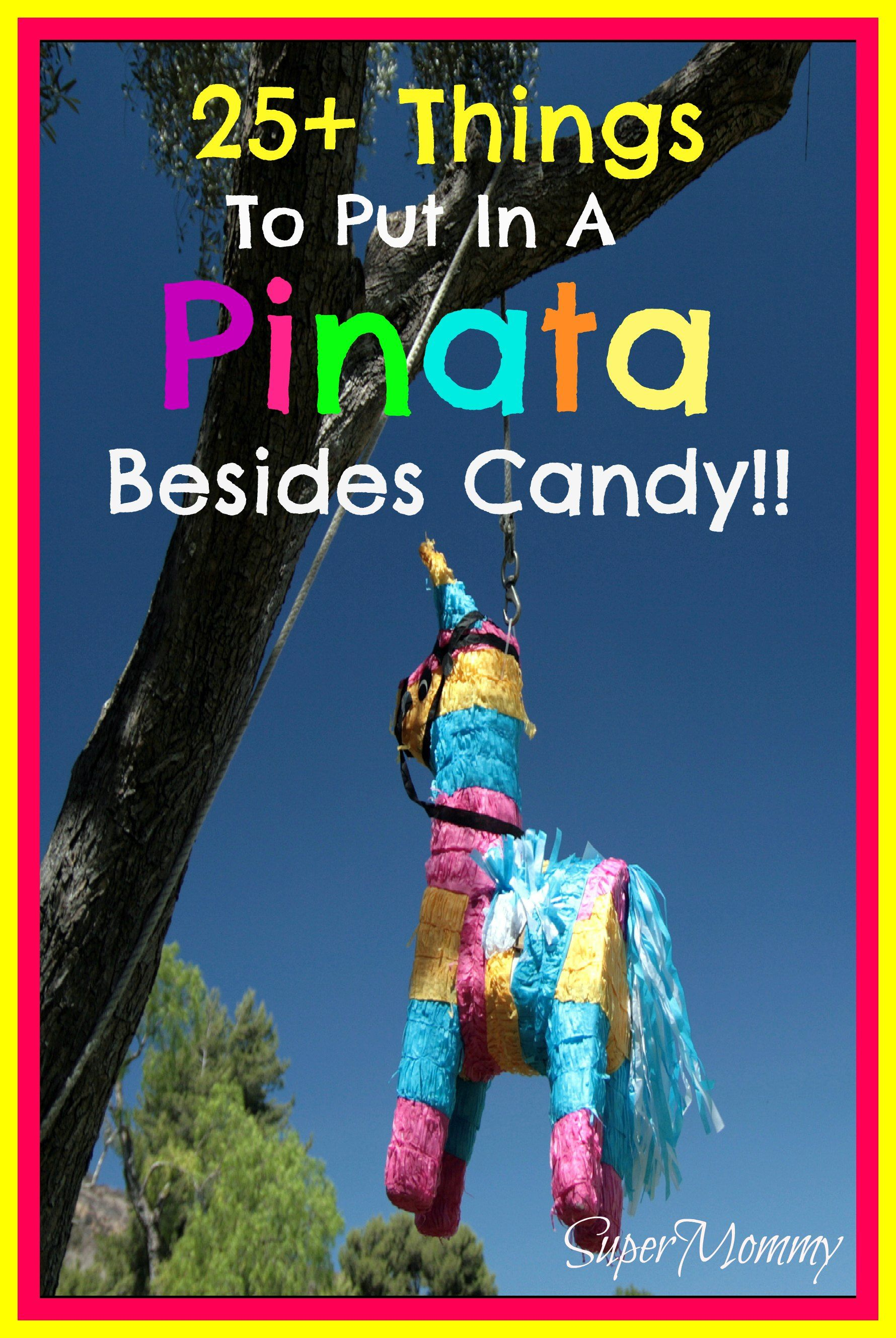 Funny Things To Put In A Pinata : funny, things, pinata, Things, Pinata, Besides, Candy, Pinata,, Fillers,, Birthday