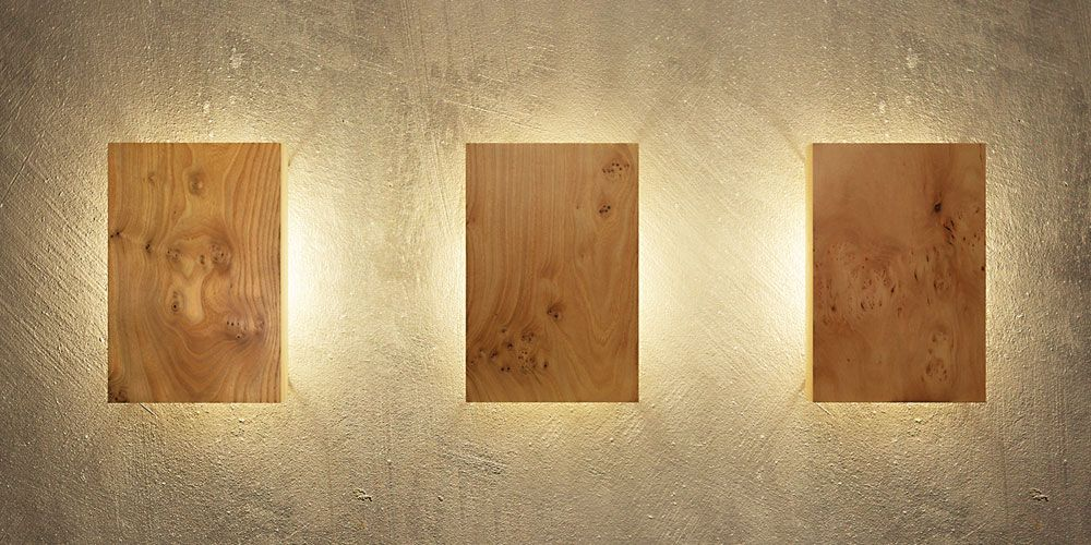 Wandleuchte Holz 20x30 In 2019