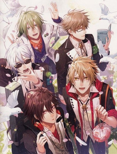 - a very nice reverse harem anime, based on one of those otome PSP games. I liked the show and I'd love to play the game myself one day. I already know which one of these boys I'd choose - there isn't much to choose from, anyway. We've got a gloomy creep, a cheery creep, a weird guy surrounded by creepy fans, a freaky creep and then there's Kent ...