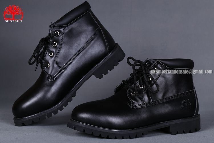 Timberland Men's Heritage Chukka Boot All Black On Sale $78.00