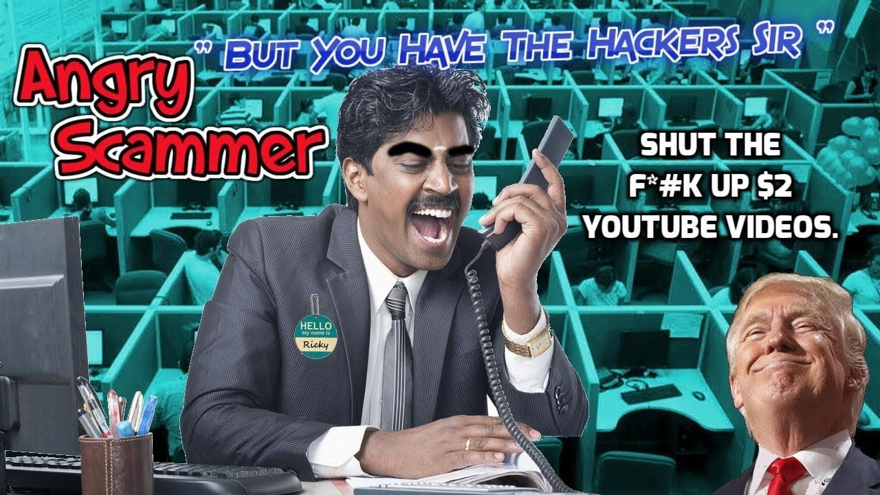 Very Angry Scammer Warns About The Hackers Youtube