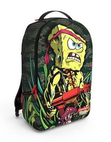 7eaffd8989e SPRAYGROUND RAMBOB SPONGEBOB SQUAREPANTS RAMBO JUNGLE URBAN LAPTOP BAG  BACKPACK