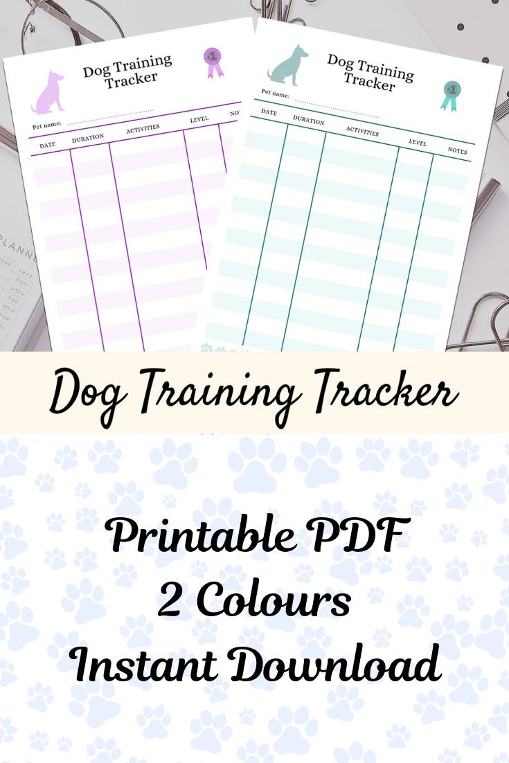 Dog Planner Dog Training Planner Printable Pet Planner Pet Binder Printable Pdf Pet Organiser Dog Mom Planner Instant Download Pet Medications Pet Plan Training Planner
