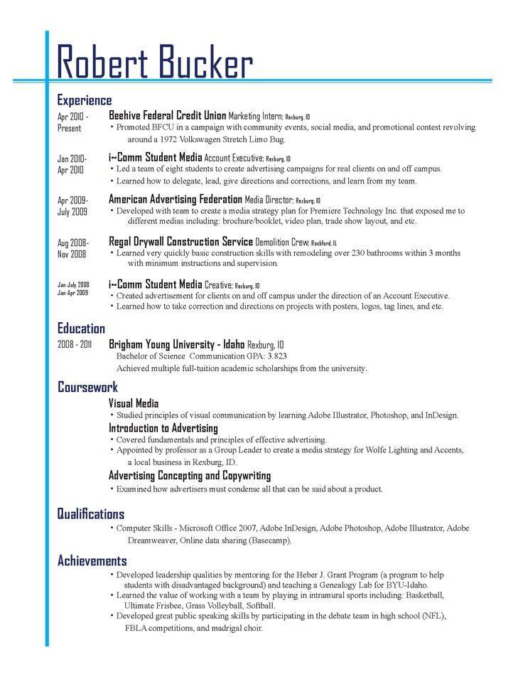 Best Resume Layout Resume layout, Good resume examples