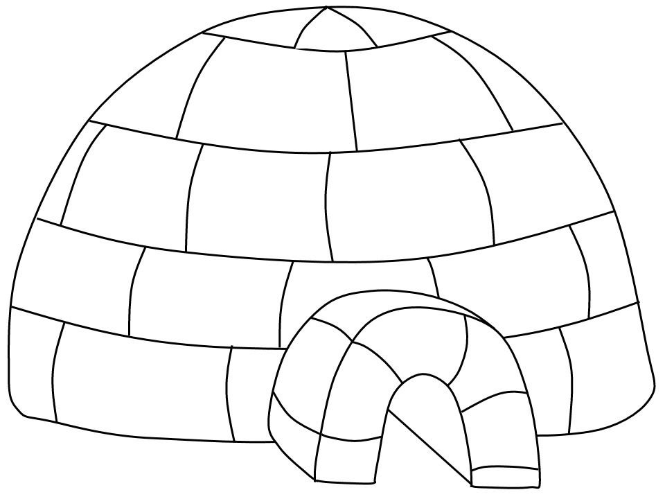 9 Excellent Coloriage Igloo Collection | Coloriage igloo ...