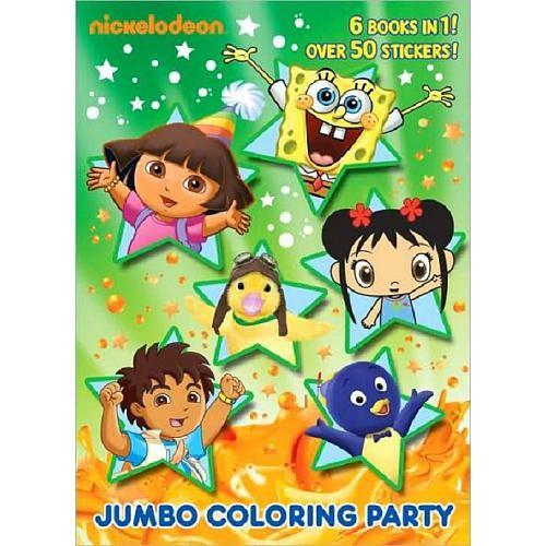 Nickelodeon Junior Jumbo Color Party Book