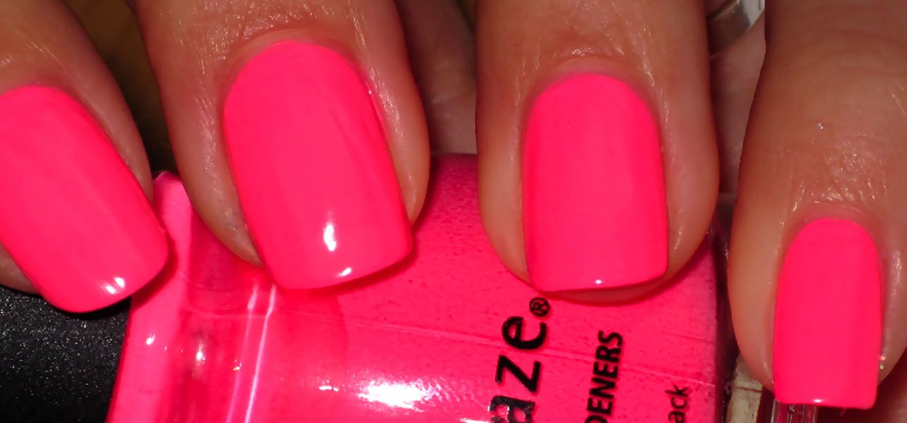 Famous Fluorescent Pink Nails Pictures - Nail Art Ideas - morihati.com