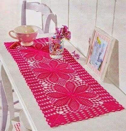 Carpeta Rectangular Corredor De Mesa De Ganchillo Casa De Ganchillo Mantel De Crochet