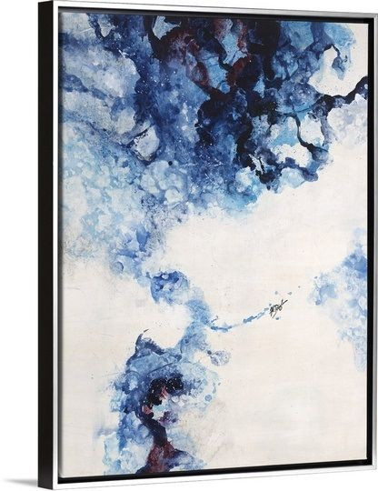 """Bring out the blue in your room with this abstract piece, """"Glacier Blue II"""" by Farrell Douglass found on GreatBIGCanvas.com"""