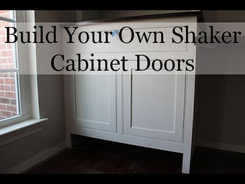 How to build shaker cabinet doors with a router our home - How to build a kitchen cabinet from scratch ...
