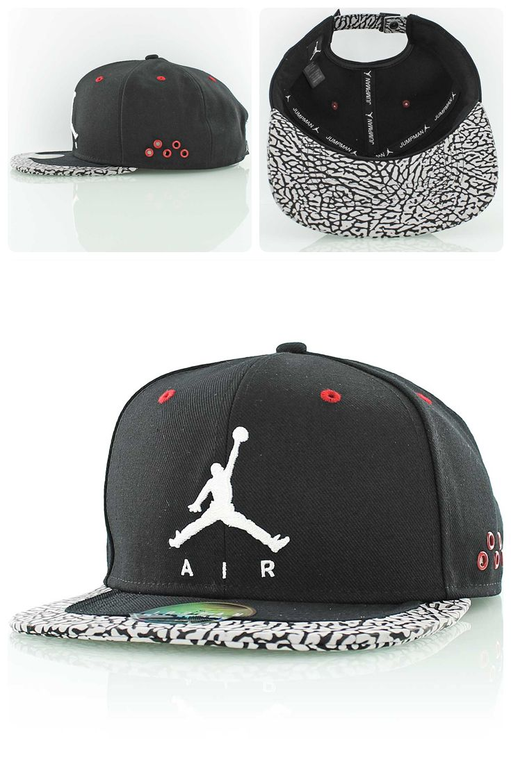 ce9510bcb379d6 Jordan Jumpman Air Strapback Cap with elephant print