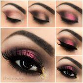 Impresionante maquillaje rosado ahumado a través de Styles Weekly #Eye_Makeup Atemberaubende …
