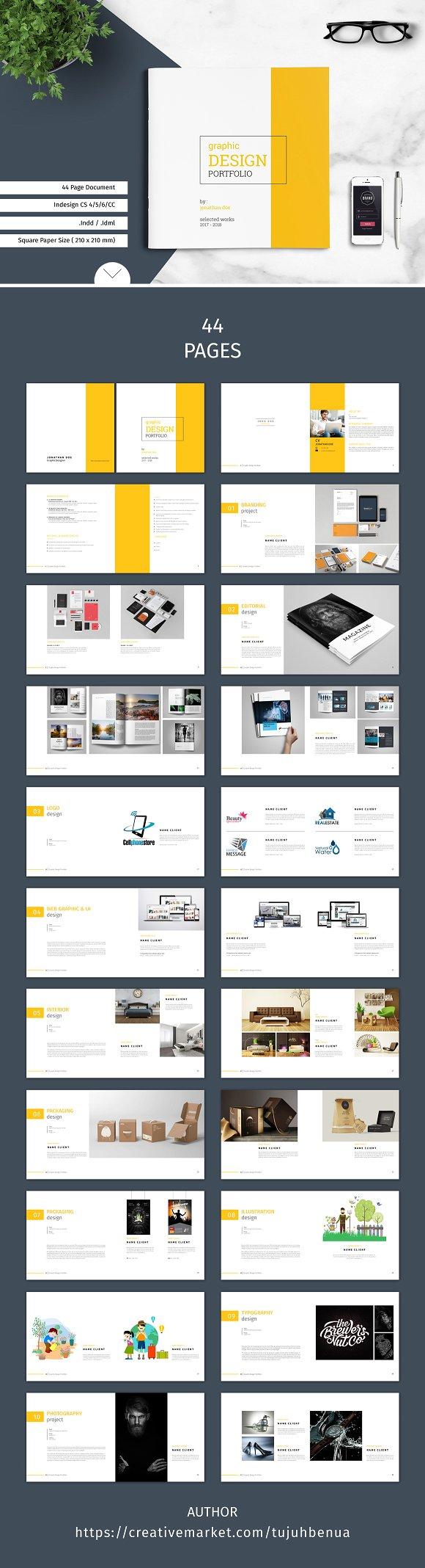 Graphic Design Portfolio Template @creativework247 | Brochure Design ...