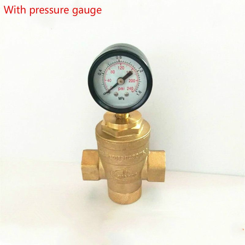 Brass Water Pressure Regulator Valves With Pressure Gauge Pressure Maintaining Valve Water Pressure Reducing Valve Dn15 Dn50 Pressure Gauge Plumbing Gauges
