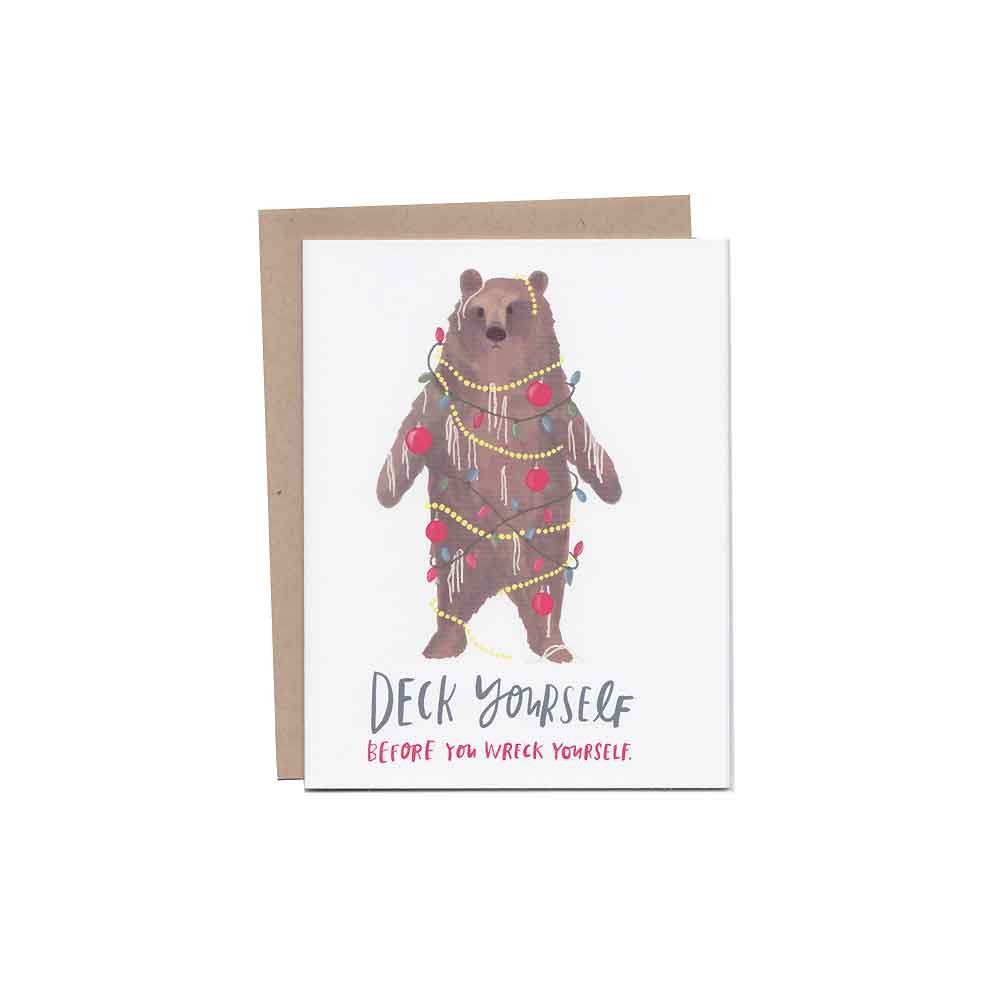 Deck Yourself Christmas Card