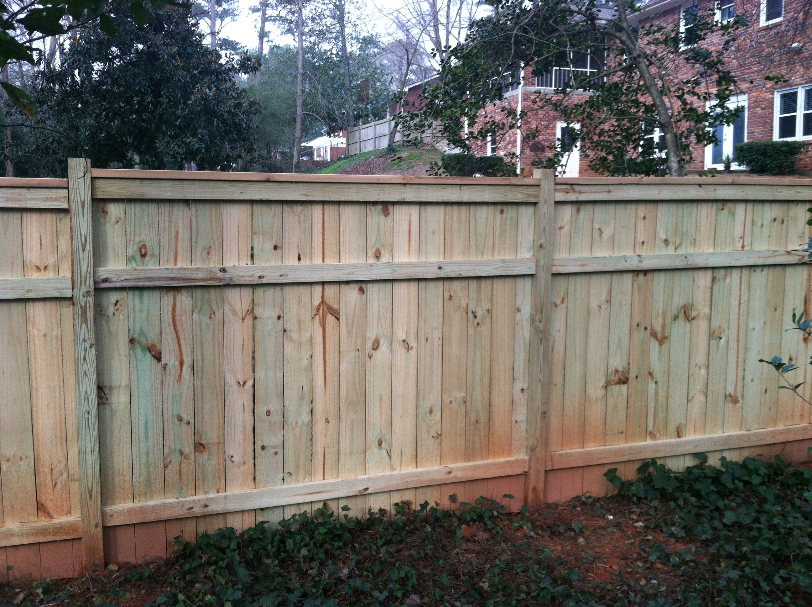 Cedar fence with a cedar 2x4 cap House Pinterest