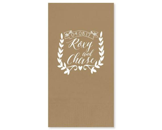 Guest Towel Wedding Monogrammed Napkin Custom Restroom 3ply Party