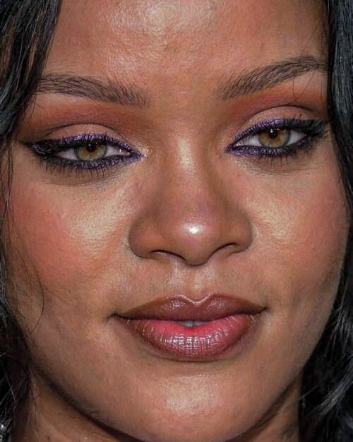 Celebrity Face Close Up Celebrity Makeup Fails Celebrity Faces Rihanna Face