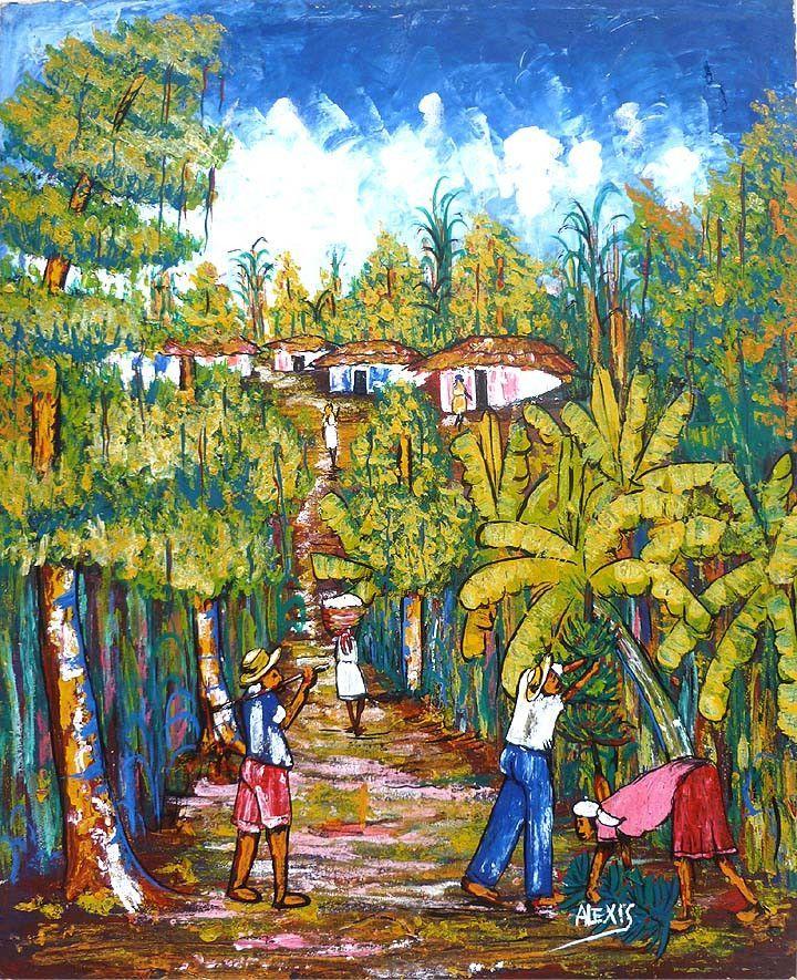 Canvas painting, Haitian art, Canvas art, Canvas wall art, Paintings ...