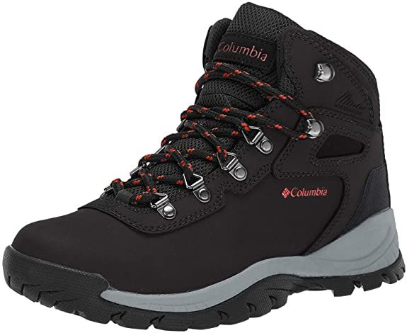 Leather / Suede / Mesh Imported Rubber sole Shaft measures approximately ankle-high from arch Platform measures approximately 1.0 inches inches inches ADVANCED TECHNOLOGY: Columbia Women's Newton Ridge Plus Waterproof Hiking Boot features our lightweight, durable midsole for long lasting comfort, superior cushioning, and high energy return as well as an advanced traction rubber sole for slip-free movement on rough ground.