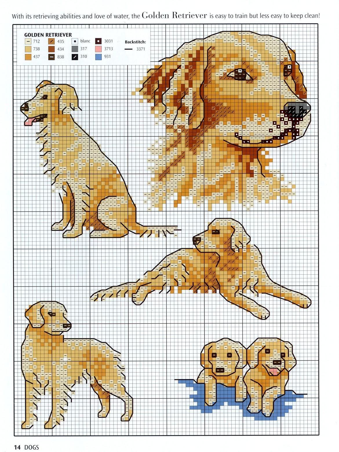 Cross stitch pattern of a dog - a symbol of 2018 66