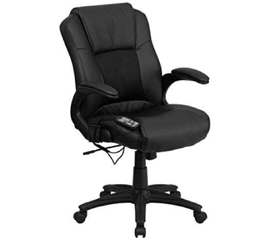 Black Leather Executive Swivel Office Chair Tilt Tension