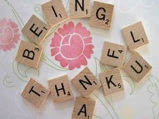 Being Thankful in scrabble tiles...how fantastic is that?