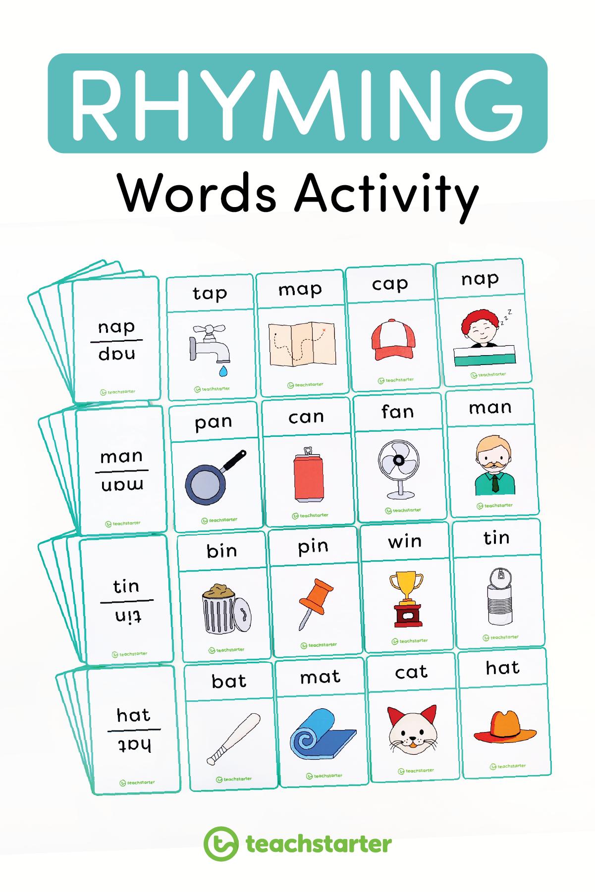 Rhyming Words Snap Cards Teaching Resource