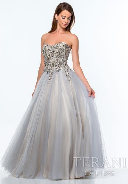 Strapless Ball Gown Terani Dress 151P0191
